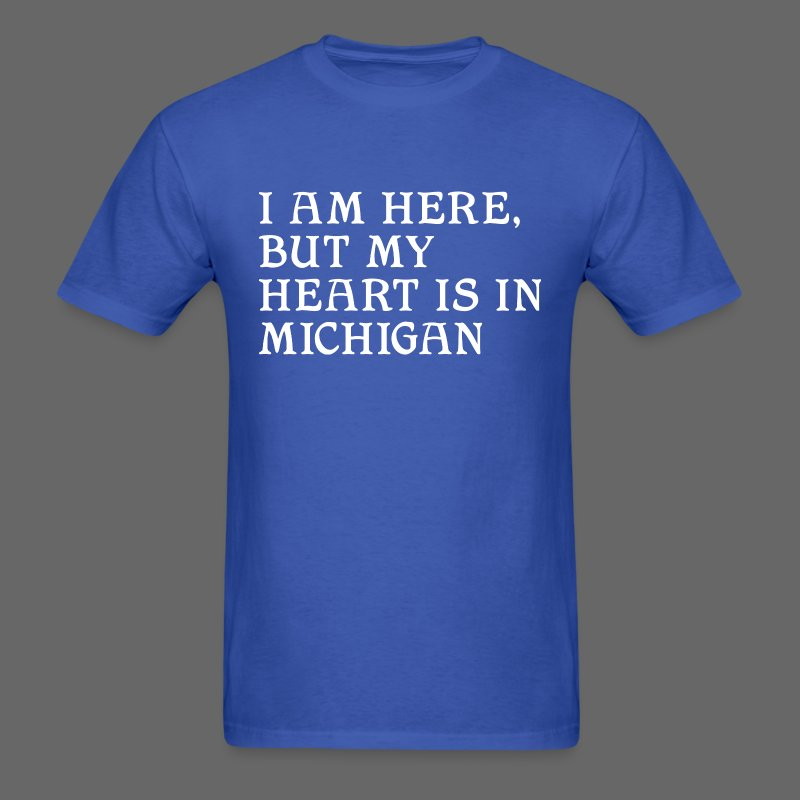 Heart is in Michigan - Men's T-Shirt