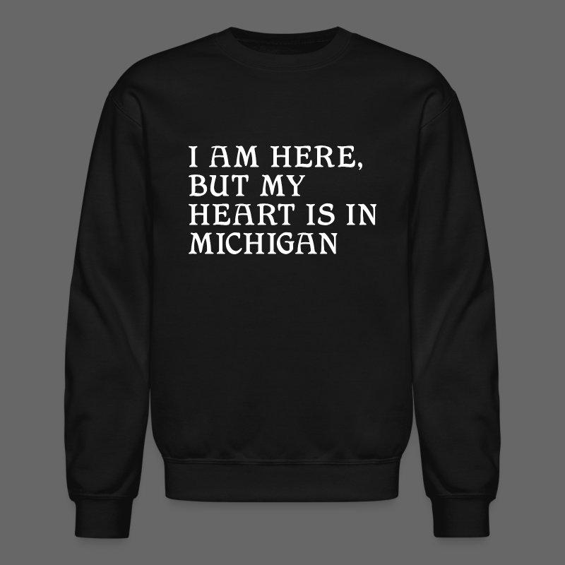 Heart is in Michigan - Crewneck Sweatshirt