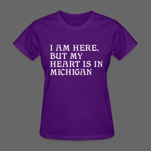 Heart is in Michigan - Women's T-Shirt