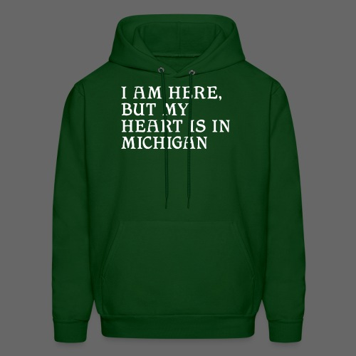 Heart is in Michigan - Men's Hoodie