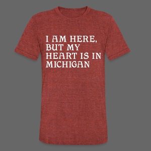 Heart is in Michigan - Unisex Tri-Blend T-Shirt