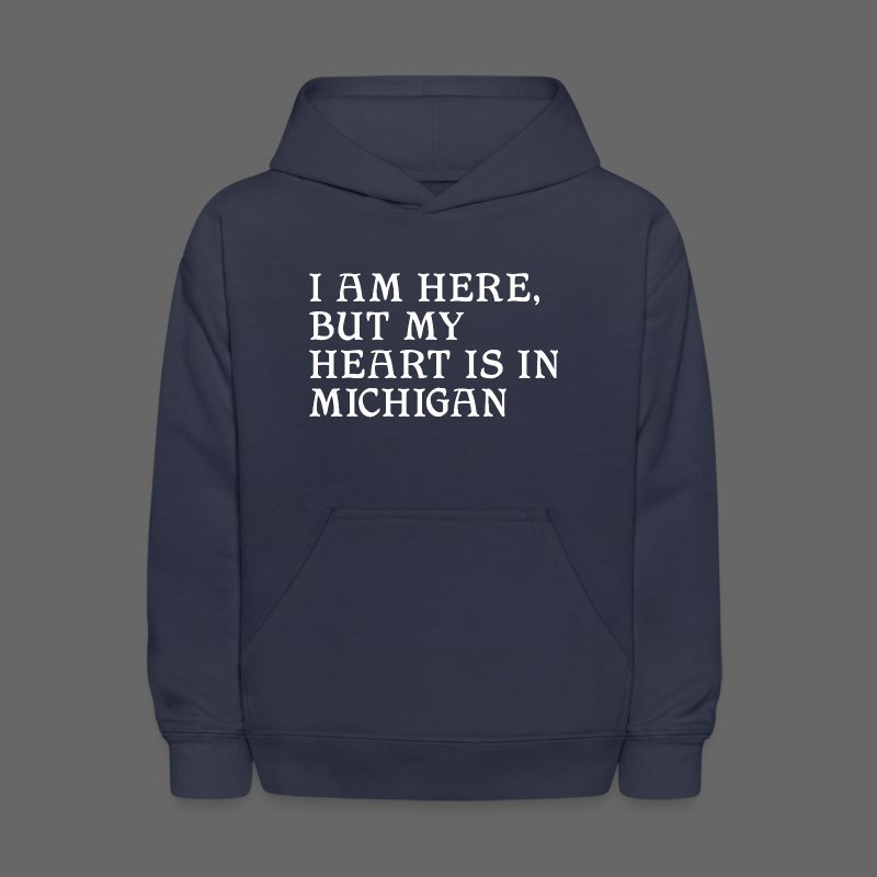 Heart is in Michigan - Kids' Hoodie