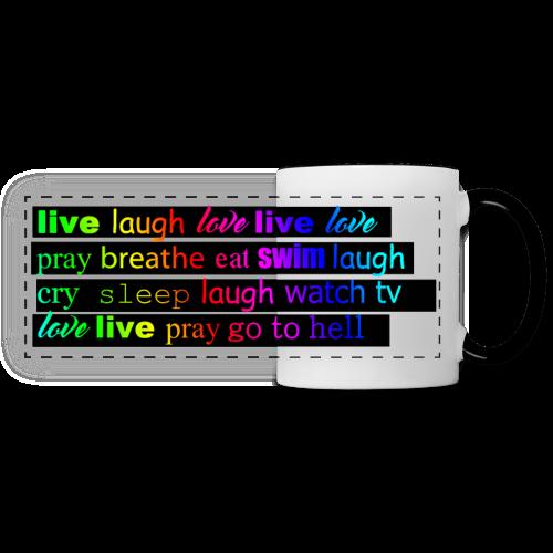 Live Laugh Love Mug - Panoramic Mug