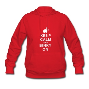 'Keep Calm & Binky On' Ladies Hoodie  - Women's Hoodie