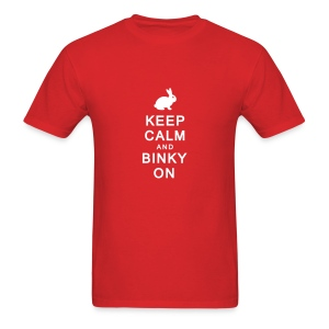 'Keep Calm & Binky On' Men's/Unisex T-Shirt  - Men's T-Shirt