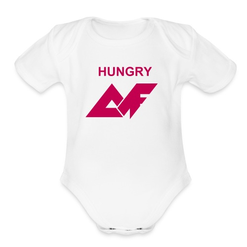 'Hungry' AF Baby   - Organic Short Sleeve Baby Bodysuit