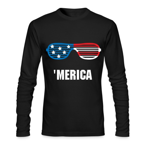 AMERICA. - Men's Long Sleeve T-Shirt by Next Level