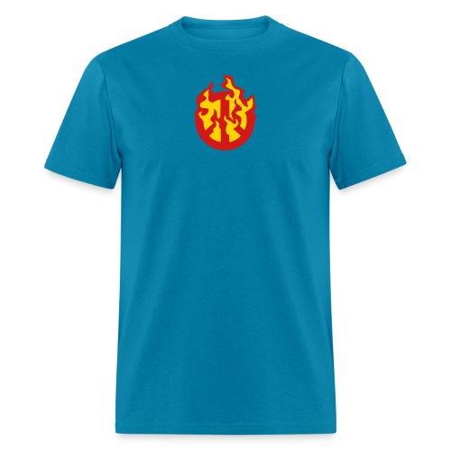 Burning Peace Sign - Men's T-Shirt