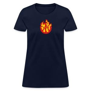 Burning Peace Sign - Women's T-Shirt