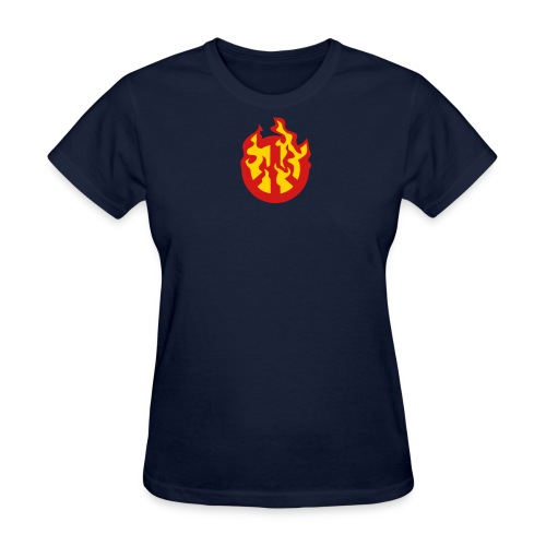Burning Peace Sign - Women's T-Shirt