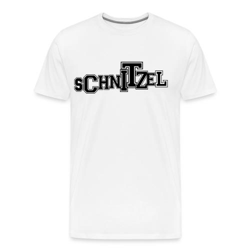 Schnitzel Letter Shirt  - Men's Premium T-Shirt