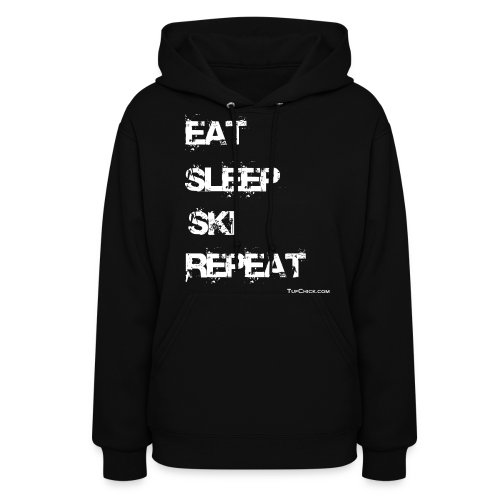 Eat Sleep Ski Repeat Women's Hoodie - wb - TC - Front - Women's Hoodie