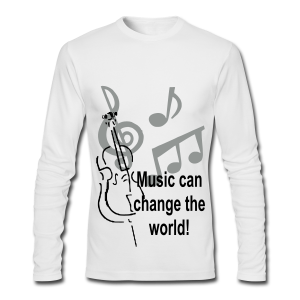Music can change the world - Men's Long Sleeve T-Shirt by Next Level