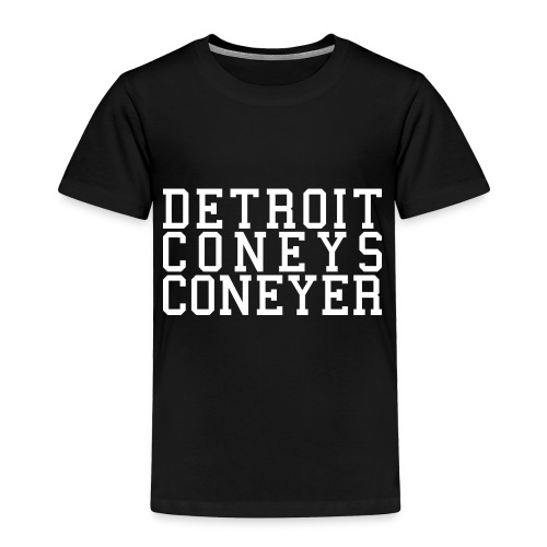 Detroit Coneys Coneyer Toddler T-Shirt - Toddler Premium T-Shirt