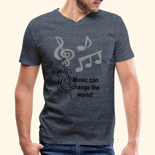 Music can change the world - Men's V-Neck T-Shirt by Canvas