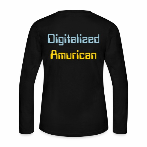 Digitalized Amurican Women's Long Sleeve Shirt - Women's Long Sleeve Jersey T-Shirt