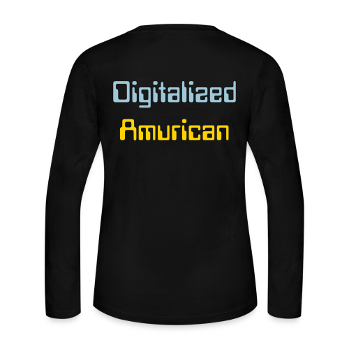 Digitalized Amurican Women's Long Sleeve Shirt - Women's Long Sleeve Jersey T-Shirt