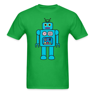 Blue Retro Robot T-Shirts