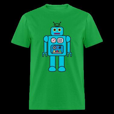 Blue Retro Robot T-Shirts