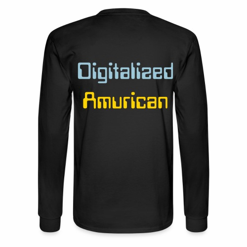 Digitalized Amurican Men's Long Sleeve Shirt - Men's Long Sleeve T-Shirt