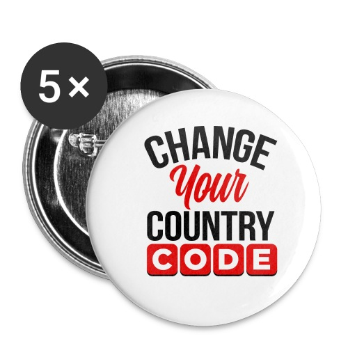 Buttons Change Your Country Code - Small Buttons