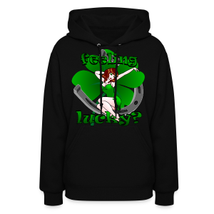 St. Patrick's Hoodie Lucky Irish Pinup Girl Shirts - Women's Hoodie