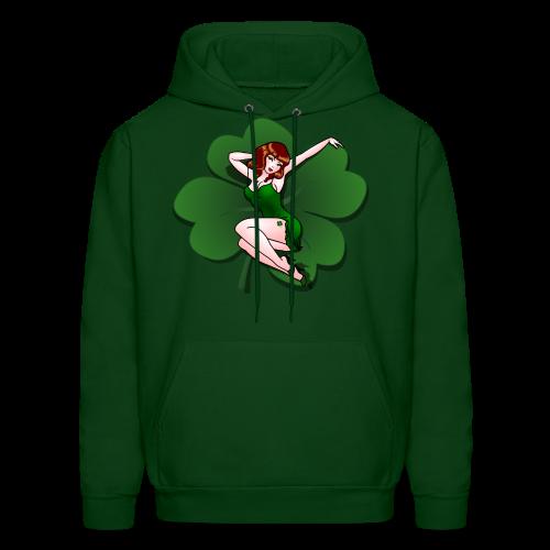 Lucky Shirt XXXL St Patrick's Pinup Girl Hoodie - Men's Hoodie