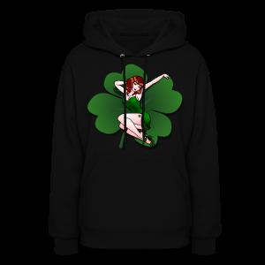 Lucky Shirt Women's St Patrick's Pinup Girl Hoodie - Women's Hoodie
