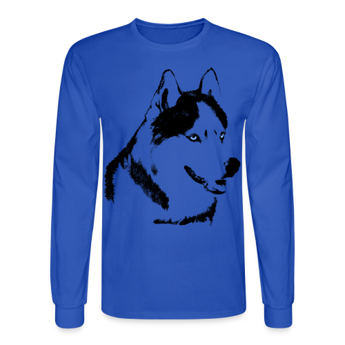 Men's Husky Shirts Long Sleeve Siberian Husky Shirts - Men's Long Sleeve T-Shirt