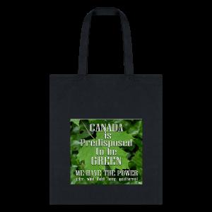 Green Canada Power Tote Bags - Tote Bag
