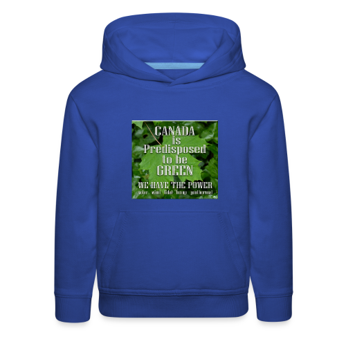Green Canada Power Hoodies Kid's - Kids' Premium Hoodie