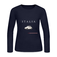 Long Sleeve Shirts ~ Women's Long Sleeve Jersey T-Shirt ~ Fiat 500 Vintage Italian Style