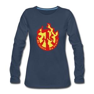 No Justice No Peace  - Women's Premium Long Sleeve T-Shirt