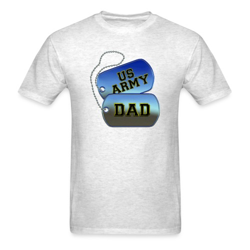 US Army Dad Dogtags - Men's T-Shirt