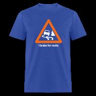 T-Shirts ~ Men's T-Shirt ~ YellowIbis.com 'Geology Symbols' Men's / Unisex Standard T-Shirt: I brake for rocks (Colour choice)