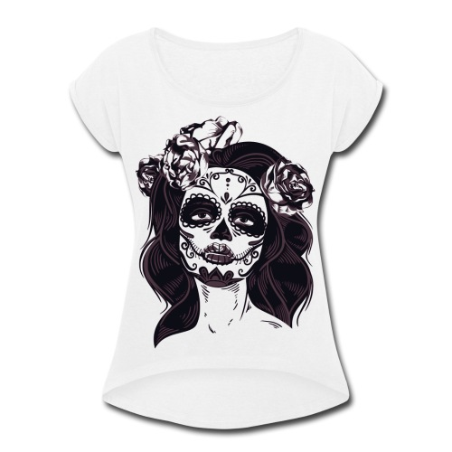 Tat Lady - Women's Roll Cuff T-Shirt