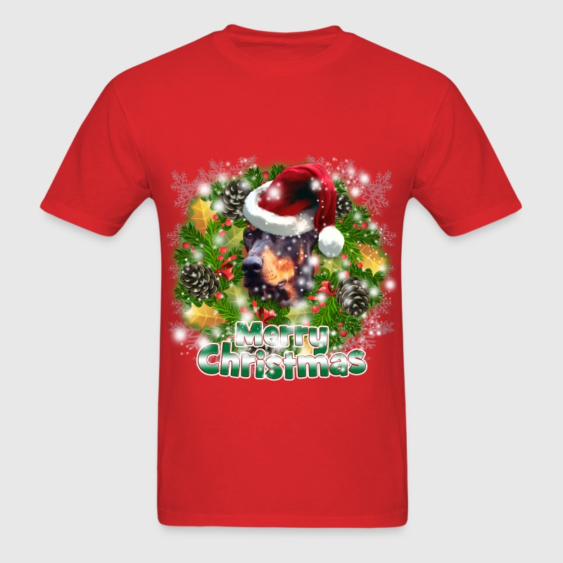 Merry christmas doberman t shirt spreadshirt Merry christmas t shirt design