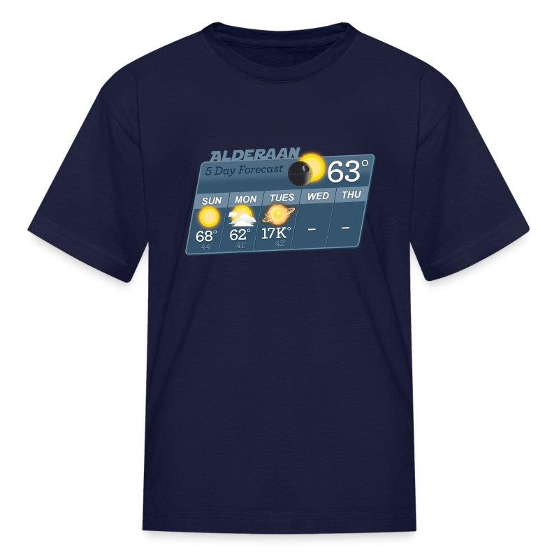 Case Design sell your phone cases : STAR WARS ALDERAAN 5 DAY WEATHER FORECAST Kidsu0026#39; Sh - Kidsu0026#39; T-Shirt