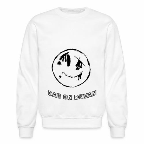 Dab On Devan Black Smiley Sweater - Crewneck Sweatshirt
