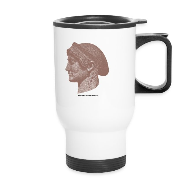 Spartan women travel mug