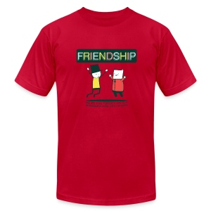 Friendship (M) - Men's T-Shirt by American Apparel