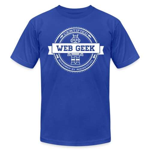 Web Geek Robot Men's T-Shirt by American Apparel - Men's Fine Jersey T-Shirt