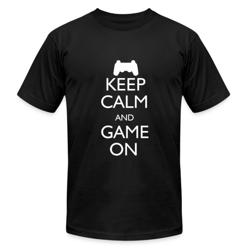 Keep Calm and Game On - Men's  Jersey T-Shirt