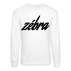 Zébra Cursive Crewneck - White - Crewneck Sweatshirt