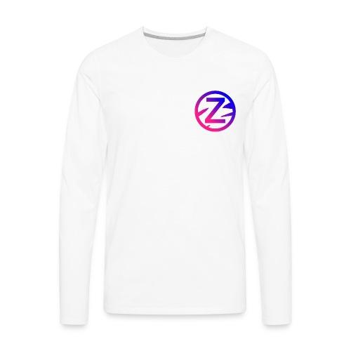 Zébra Repeat Long Tee - Men's Premium Long Sleeve T-Shirt