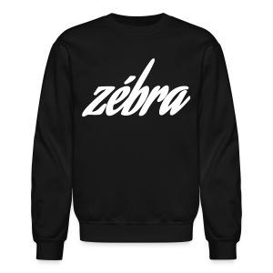 Zébra Cursive Crewneck - Black - Crewneck Sweatshirt
