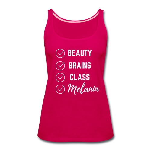 Beauty, Brains, & Class Cool Summer Tee - Women's Premium Tank Top