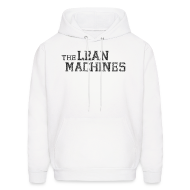 Hoodies ~ Men's Hoodie ~ The Lean Machines Men's Hoodie - White