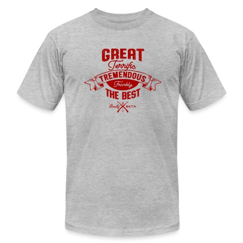 Frankly, the Best (Men's, Red Print) - Men's Fine Jersey T-Shirt
