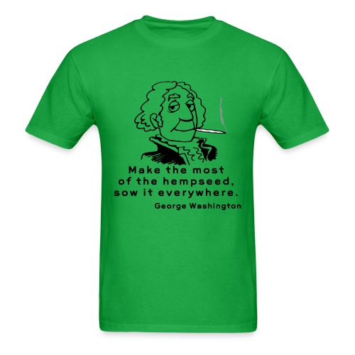 George Washington -Hemp Seed  - Men's T-Shirt
